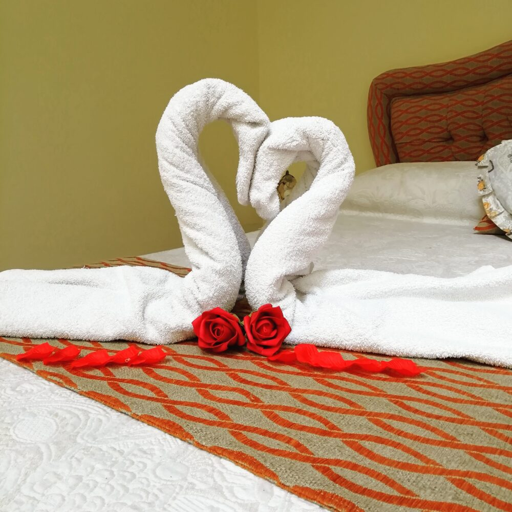 bed, handmade, love, double room, orange, valentine's day
